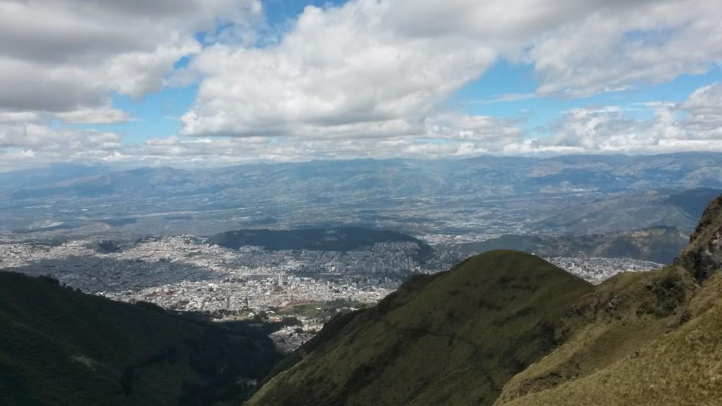 Výhľad na Quito