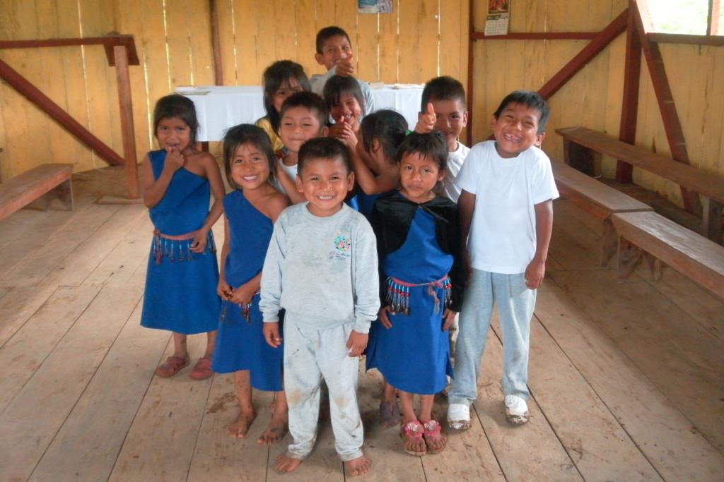 Deti v kaplnke Warints
